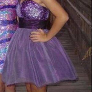 Purple Jovani Dress